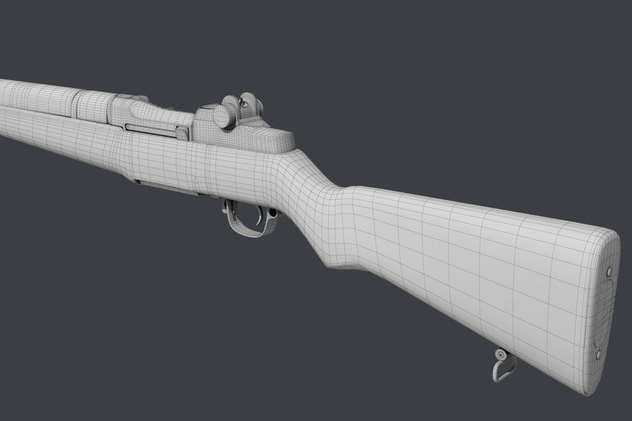 Garand M1 royalty-free 3d model - Preview no. 10
