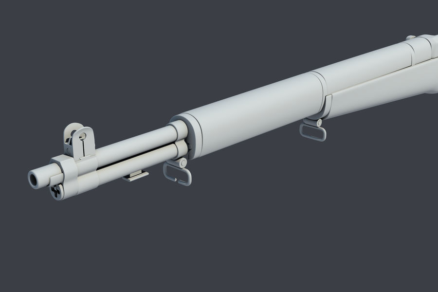 Garand M1 royalty-free 3d model - Preview no. 4