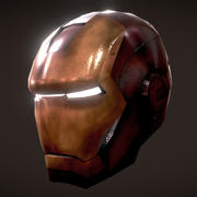 Iron Man hjälm 3d model