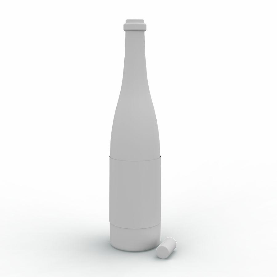 ワインボトル royalty-free 3d model - Preview no. 4