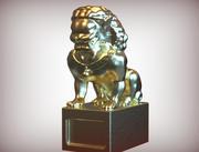 kinesiska lejon 3d model