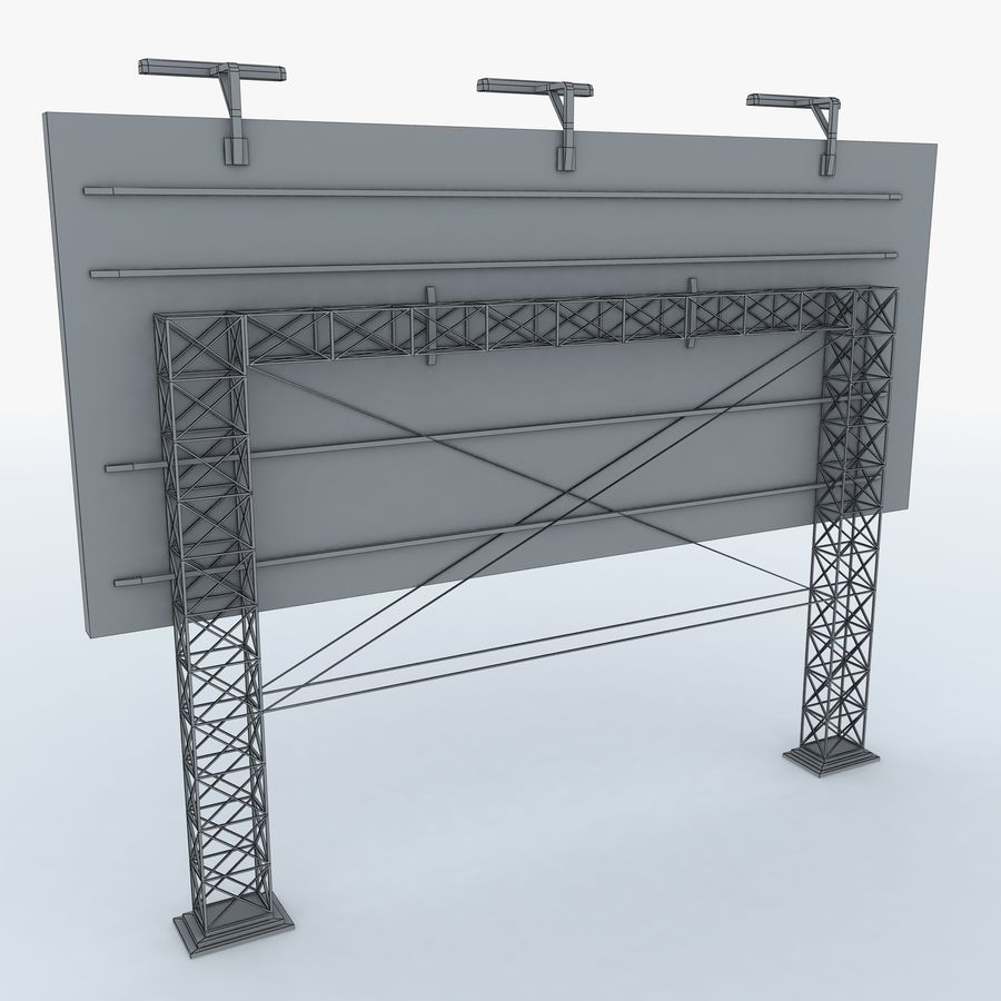 Billboard sign royalty-free 3d model - Preview no. 7