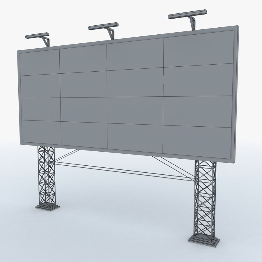 Billboard sign royalty-free 3d model - Preview no. 6