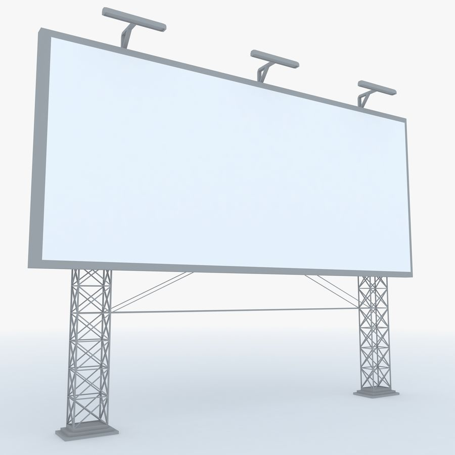Billboard sign royalty-free 3d model - Preview no. 1