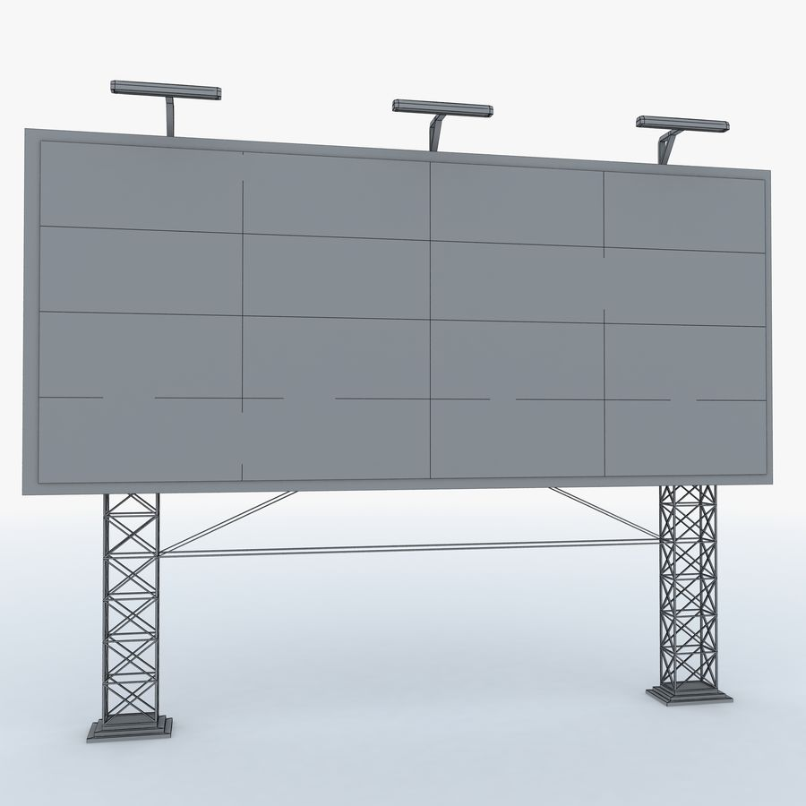 Billboard sign royalty-free 3d model - Preview no. 8