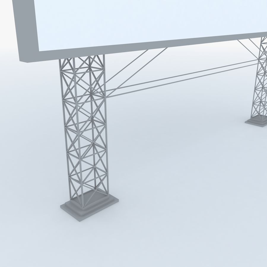 Billboard sign royalty-free 3d model - Preview no. 5