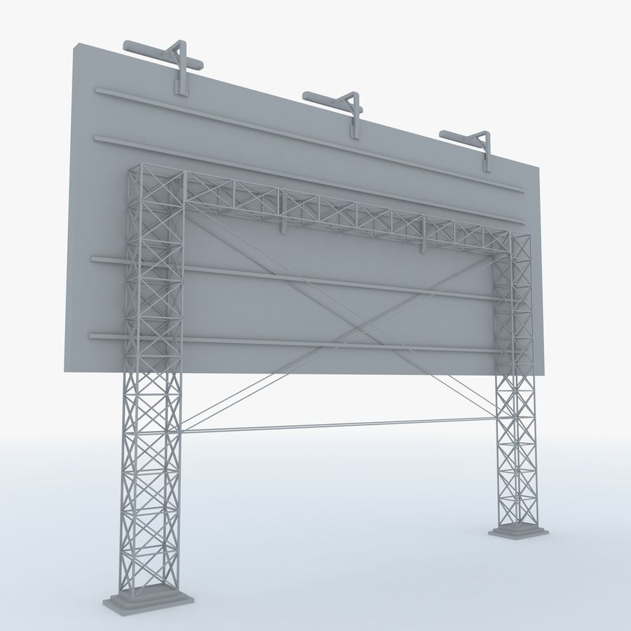 Billboard sign royalty-free 3d model - Preview no. 2