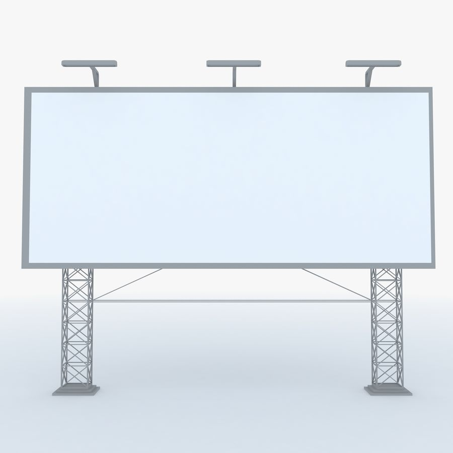 Billboard sign royalty-free 3d model - Preview no. 3