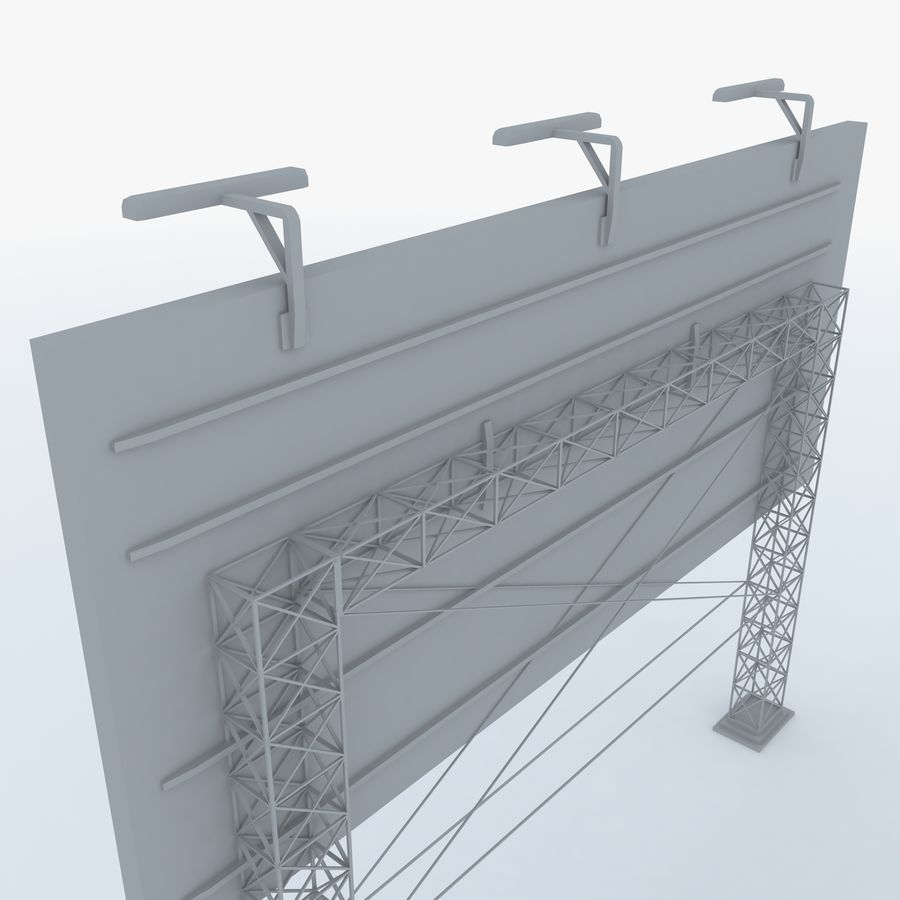 Billboard sign royalty-free 3d model - Preview no. 4