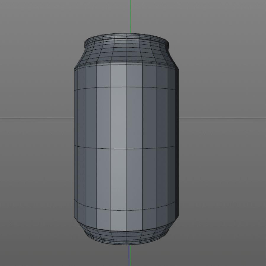 aluminium can royalty-free 3d model - Preview no. 7