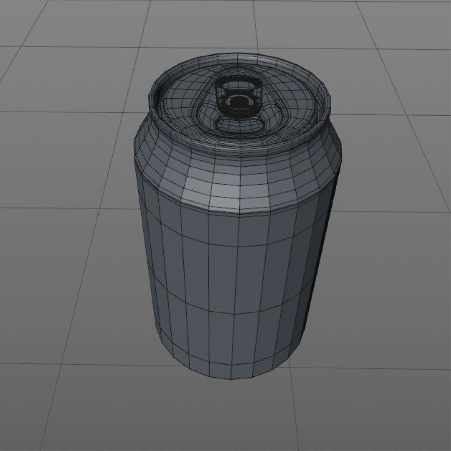 aluminium can royalty-free 3d model - Preview no. 8