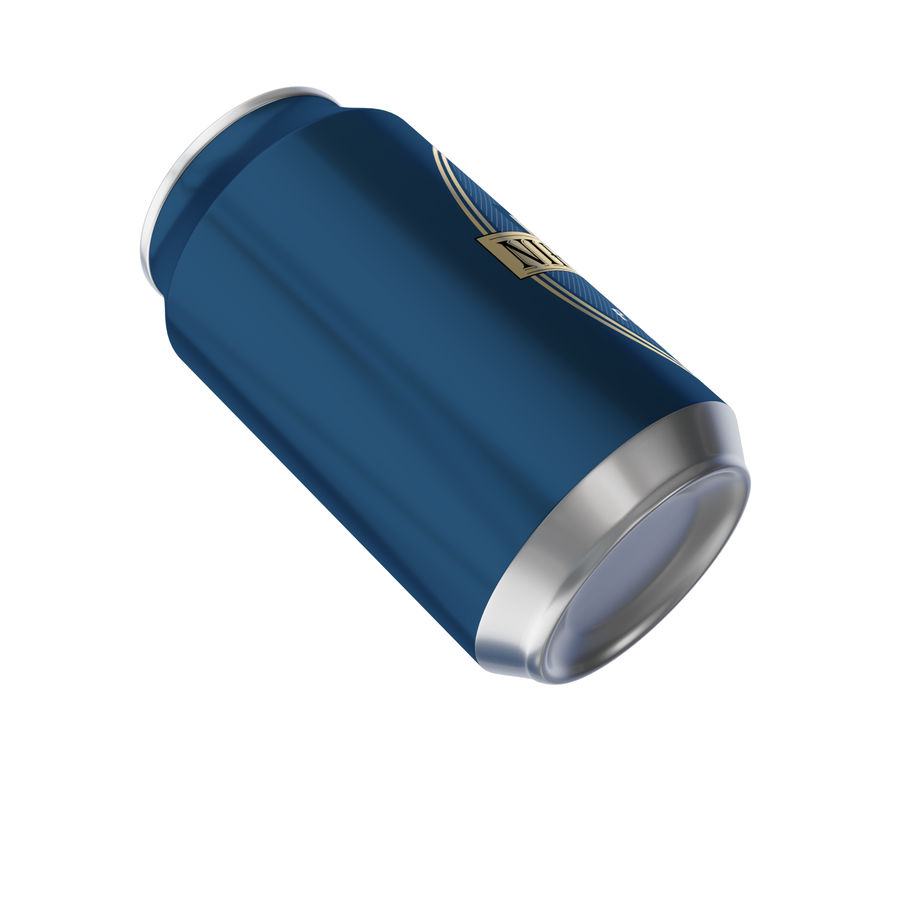 aluminium can royalty-free 3d model - Preview no. 5