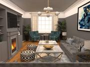 客厅 3d model