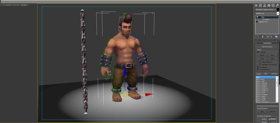 Animated Rigged Character Type A royalty-free 3d model - Preview no. 8