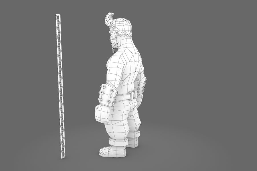 Animated Rigged Character Type A royalty-free 3d model - Preview no. 5