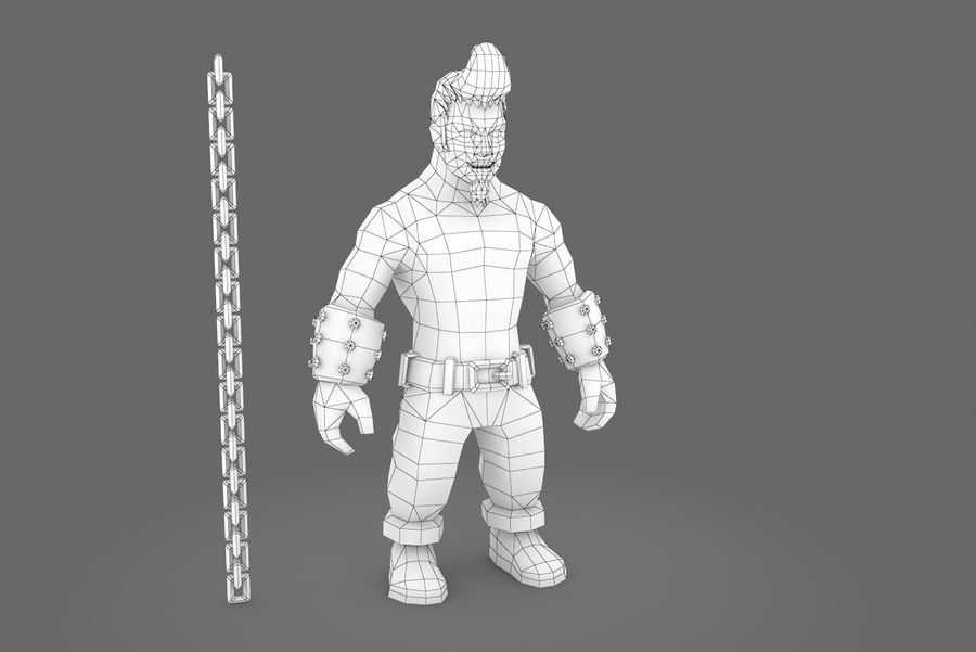 Animated Rigged Character Type A royalty-free 3d model - Preview no. 10
