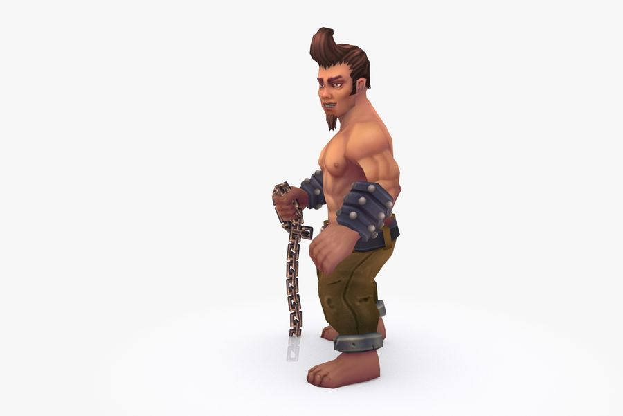 Animated Rigged Character Type A royalty-free 3d model - Preview no. 3