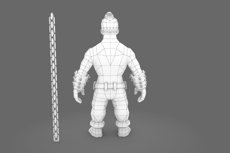 Animated Rigged Character Type A royalty-free 3d model - Preview no. 4