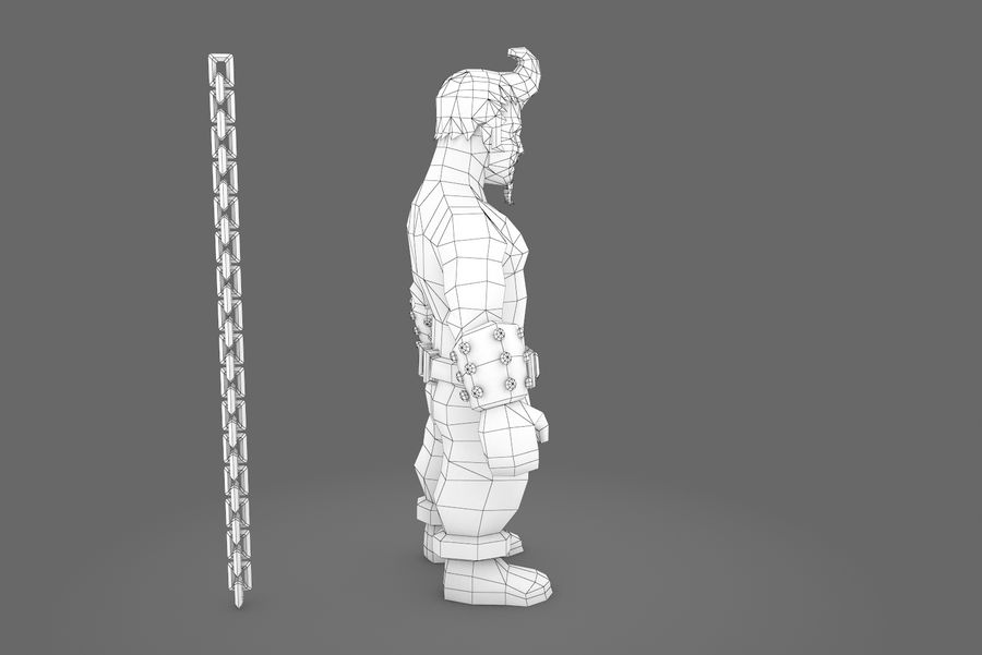Animated Rigged Character Type A royalty-free 3d model - Preview no. 2