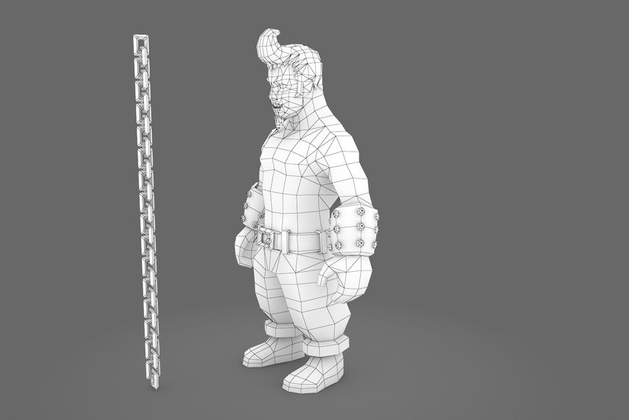 Animated Rigged Character Type A royalty-free 3d model - Preview no. 6