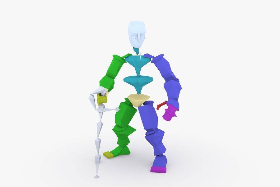 Animated Rigged Character Type A royalty-free 3d model - Preview no. 9