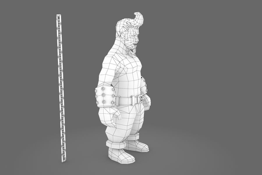 Animated Rigged Character Type A royalty-free 3d model - Preview no. 11