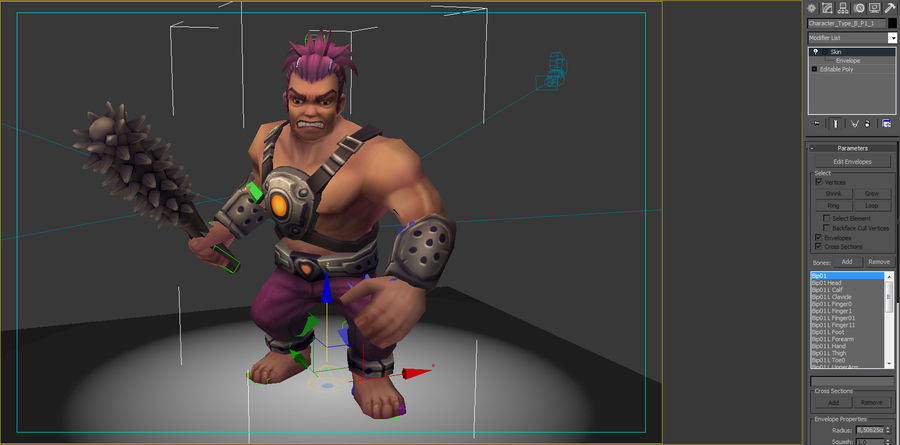 Animated Rigged Character Type B royalty-free 3d model - Preview no. 7