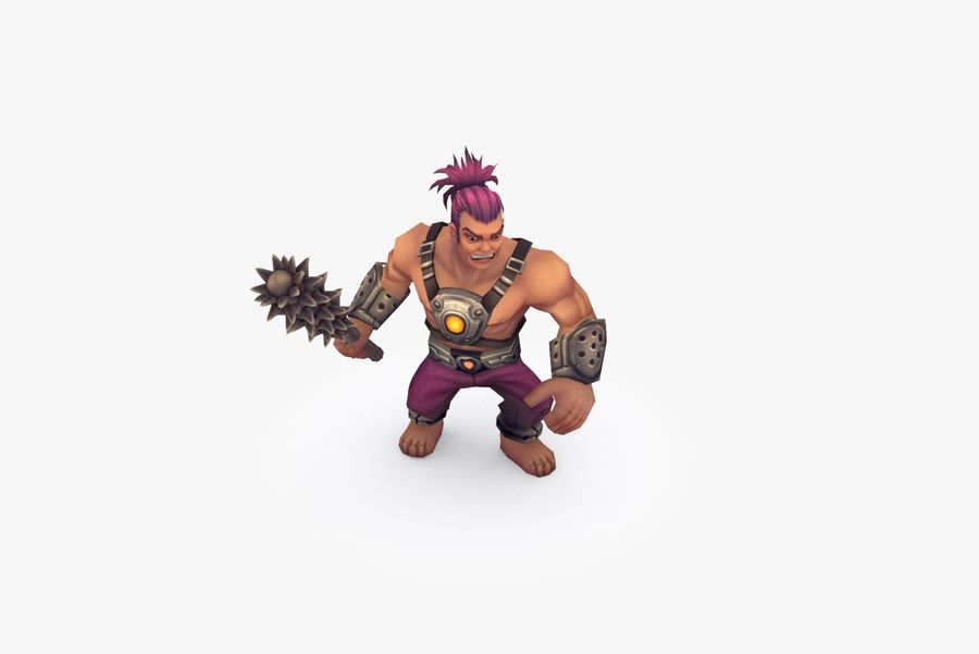 Animated Rigged Character Type B royalty-free 3d model - Preview no. 6