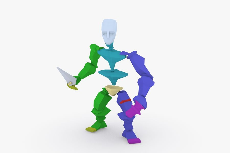 Animated Rigged Character Type B royalty-free 3d model - Preview no. 9