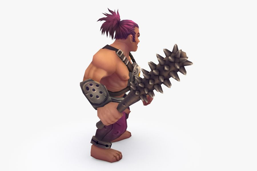 Animated Rigged Character Type B royalty-free 3d model - Preview no. 5