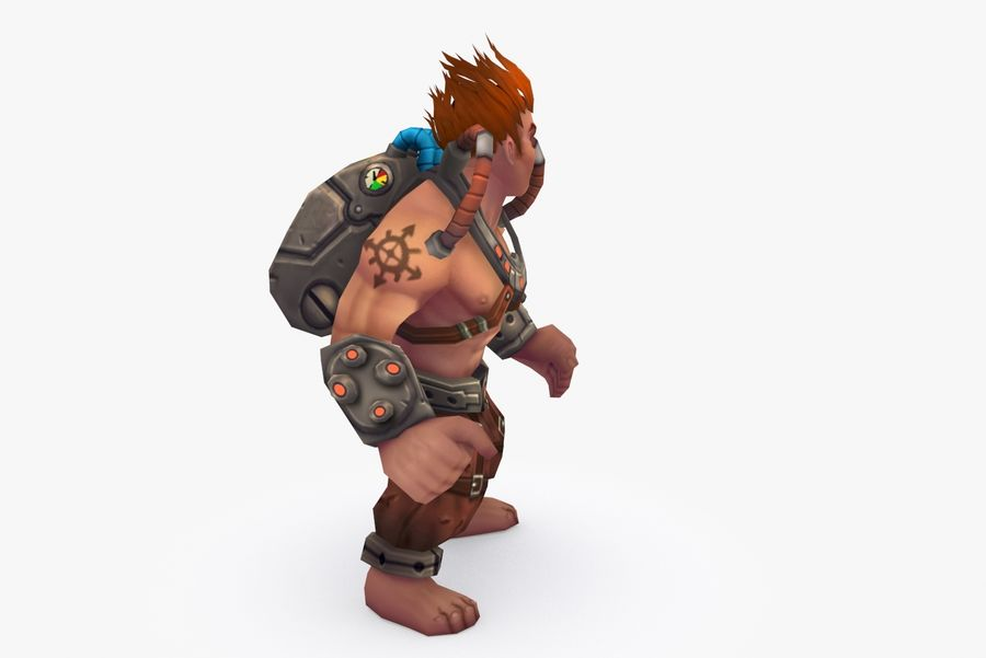 Animated Rigged Character Type D royalty-free 3d model - Preview no. 5