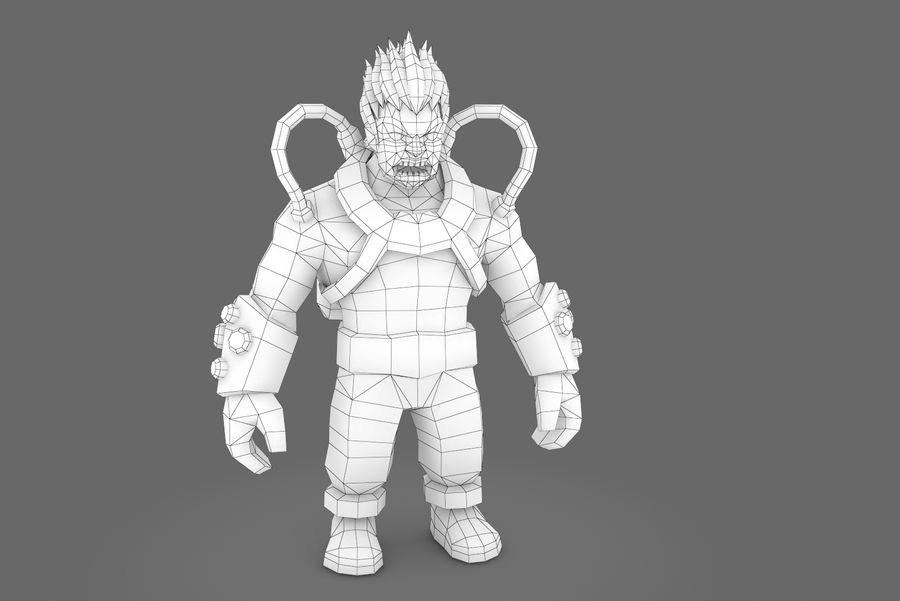 Animated Rigged Character Type D royalty-free 3d model - Preview no. 10
