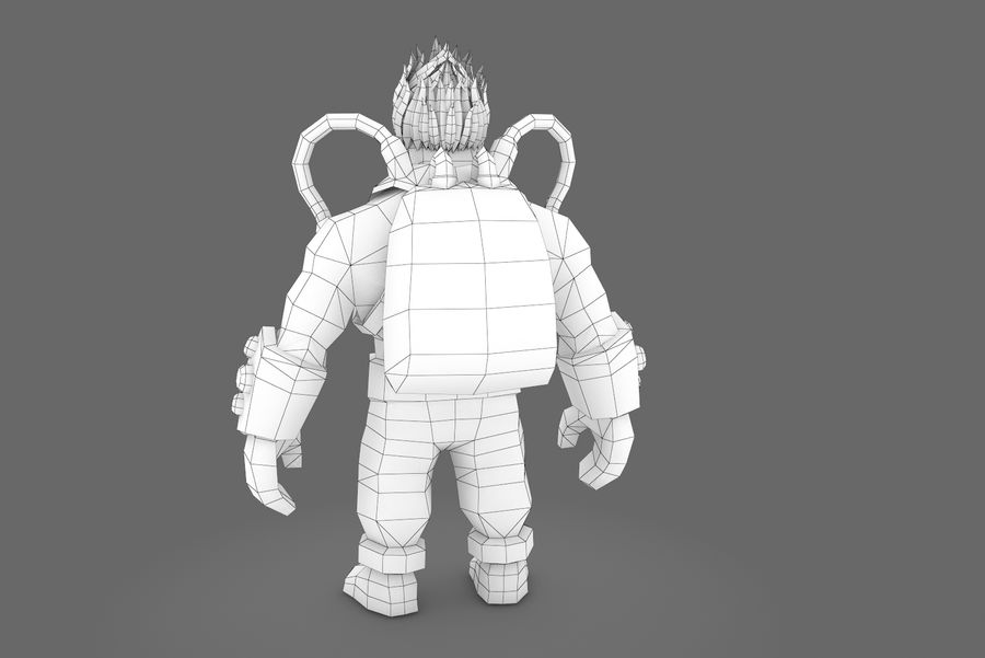 Animated Rigged Character Type D royalty-free 3d model - Preview no. 13