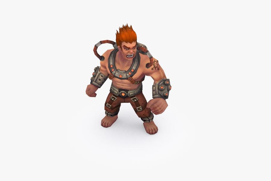 Анимированный Rigged Character Type D royalty-free 3d model - Preview no. 6