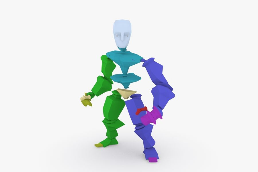 Animated Rigged Character Type D royalty-free 3d model - Preview no. 9