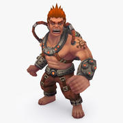 Animated Rigged Character Type D 3d model