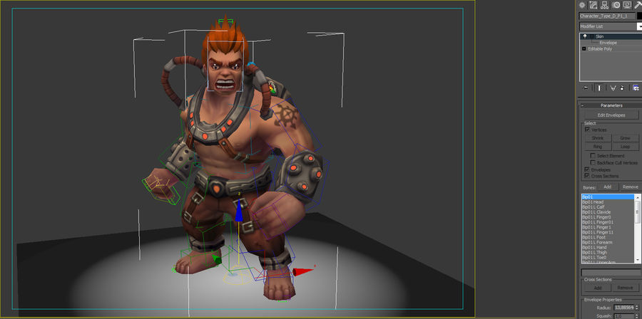 Animated Rigged Character Type D royalty-free 3d model - Preview no. 7