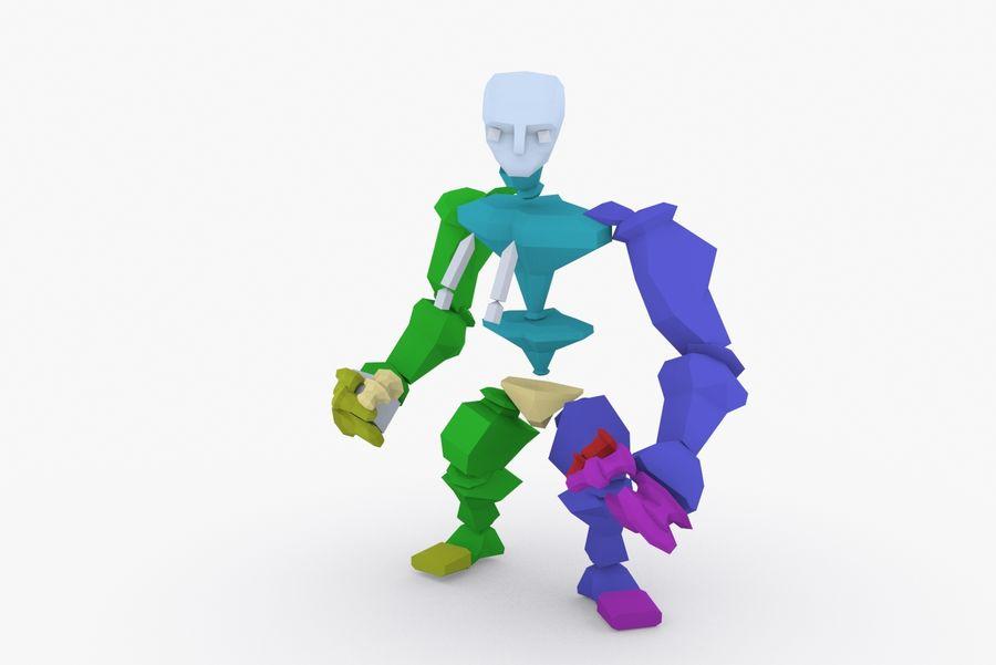 Tipo di carattere truccato animato E royalty-free 3d model - Preview no. 9