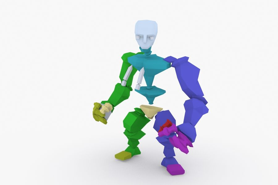 Animated Rigged Character Type E royalty-free 3d model - Preview no. 9