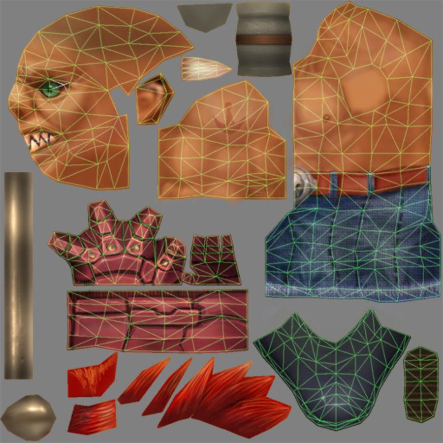 Tipo di carattere truccato animato E royalty-free 3d model - Preview no. 20