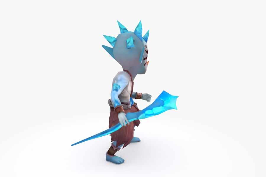 Animated Rigged Creature Type A royalty-free 3d model - Preview no. 5