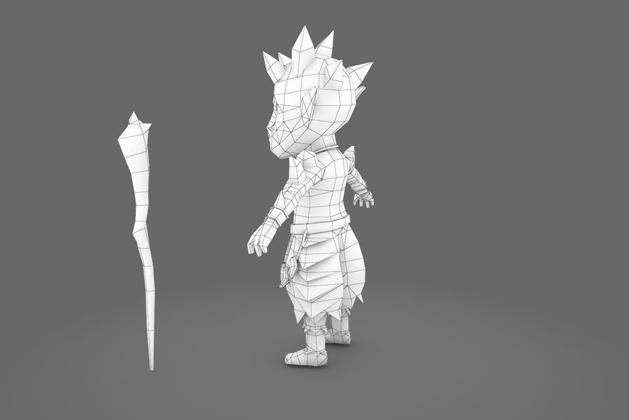 Animated Rigged Creature Type A royalty-free 3d model - Preview no. 4