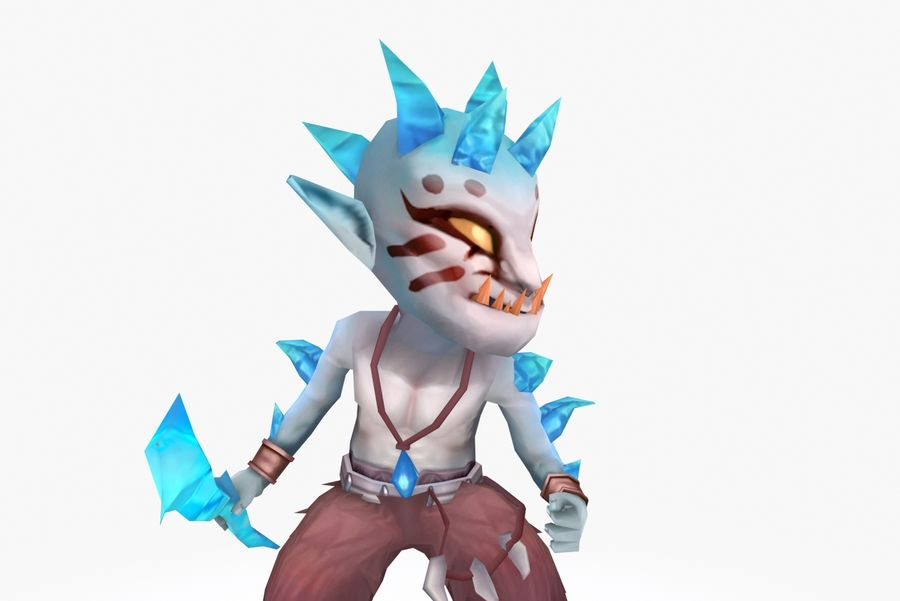 Animated Rigged Creature Type A royalty-free 3d model - Preview no. 6