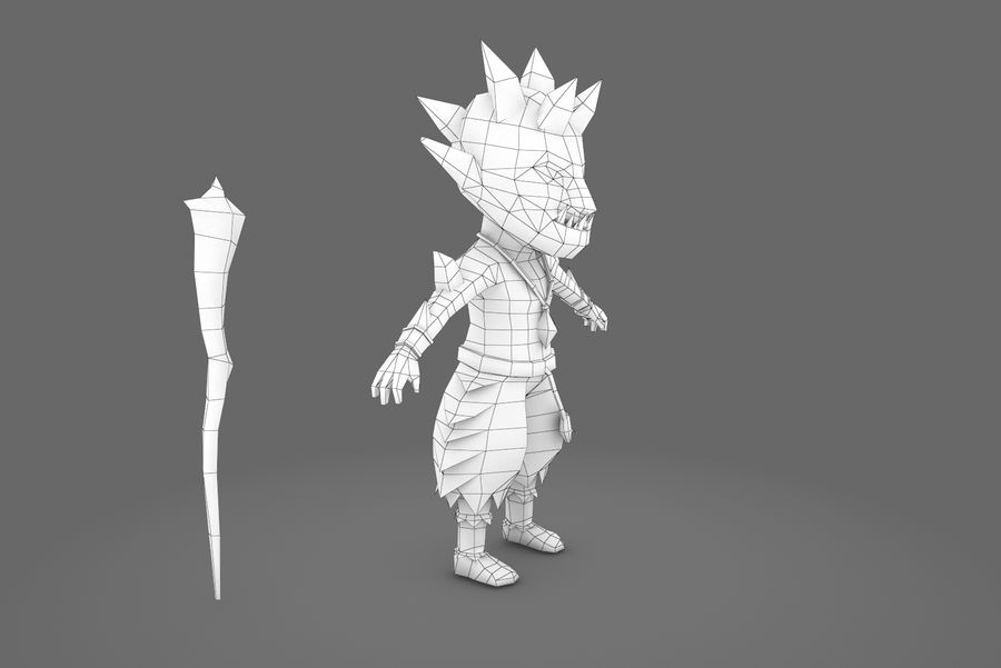 Animated Rigged Creature Type A royalty-free 3d model - Preview no. 11