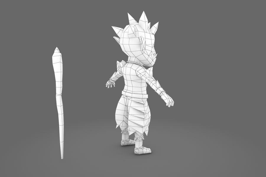 Animated Rigged Creature Type A royalty-free 3d model - Preview no. 12
