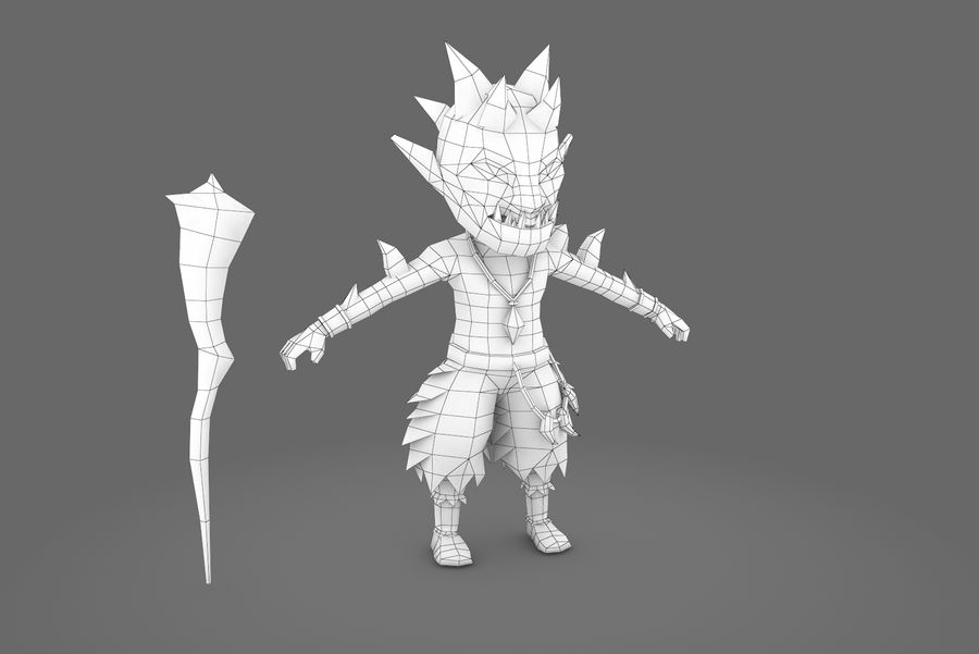 Animated Rigged Creature Type A royalty-free 3d model - Preview no. 10