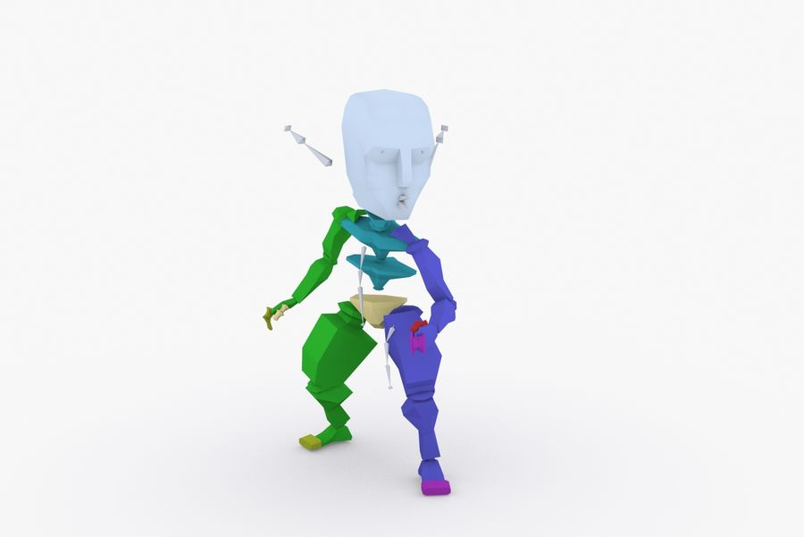 Animated Rigged Creature Type A royalty-free 3d model - Preview no. 9