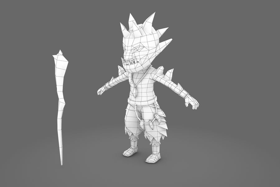 Animated Rigged Creature Type A royalty-free 3d model - Preview no. 15