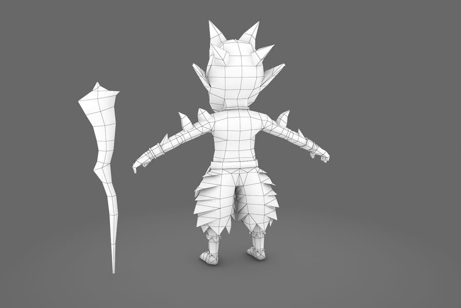 Animated Rigged Creature Type A royalty-free 3d model - Preview no. 3