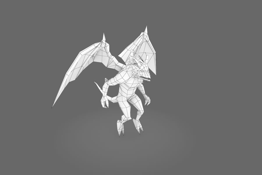 Animated Rigged Creature Type B royalty-free 3d model - Preview no. 4